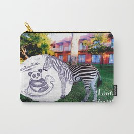 Travel with Zebra and Panda Carry-All Pouch
