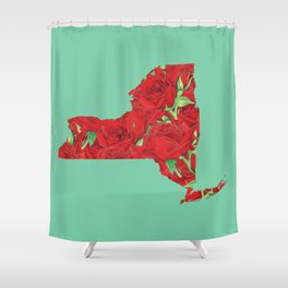 New York in Flowers Shower Curtain
