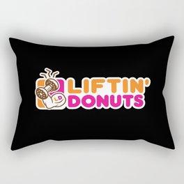 Liftin' Donuts Rectangular Pillow