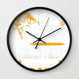 FISHING DAD Wall Clock