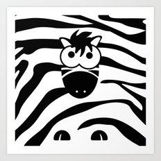 Minimal Zebra Art Print