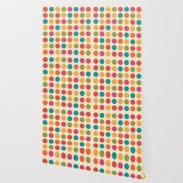 Mid Century Color Dots Wallpaper