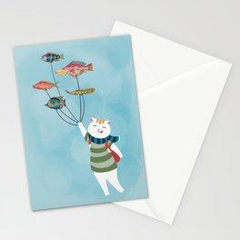 Adventurous cat Stationery Cards