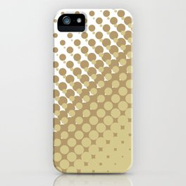 Chocolate brown and tan colour halftone pattern iPhone Case