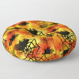 Halloween Abstract Floor Pillow