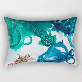 Turtle Exploring the Great Deep Blue Sea Rectangular Pillow