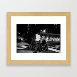 Night Biking Framed Art Print