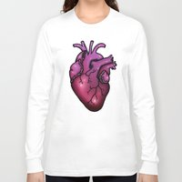 anatomical heart Long Sleeve T-shirts featuring Anatomical Heart by Hungry Designs