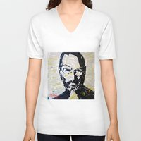 steve jobs V-neck T-shirts featuring Steve Jobs by Phil Fung