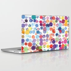 Watercolor Drops Laptop & iPad Skin