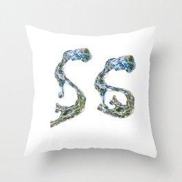 Society6 Water Logo  Throw Pillow