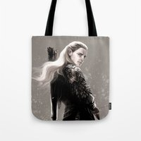archer Tote Bags featuring the archer by evankart