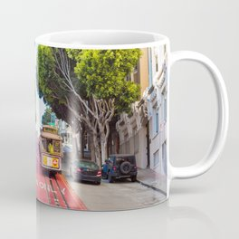 Two Iconic MUNI Cable Cars in San Francisco, California Coffee Mug