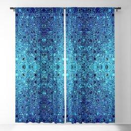 Deep blue glass mosaic Blackout Curtain