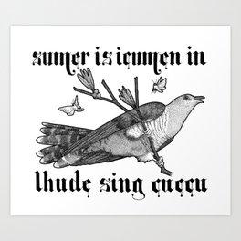 Lhude Sing Cuccu Art Print