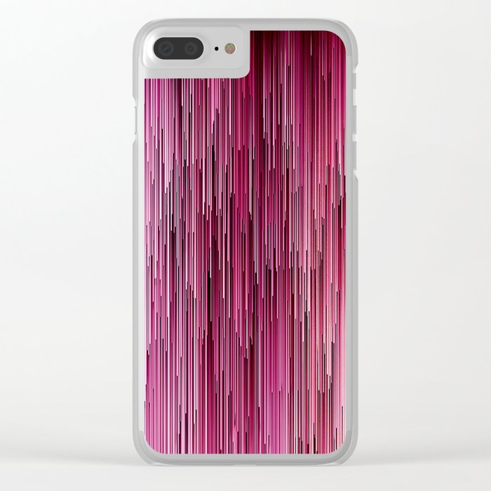 Planet Pixel Cotton Candy Pink Clear iPhone Case