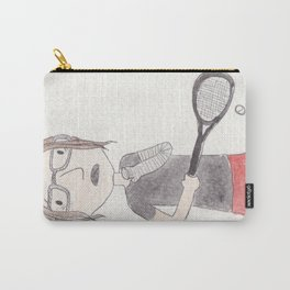 Attempting To Play Squash Carry-All Pouch