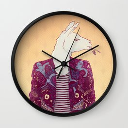 Eddy the Llama Wall Clock