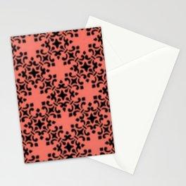 Vintage Brocade Damask Peach Echo Stationery Cards