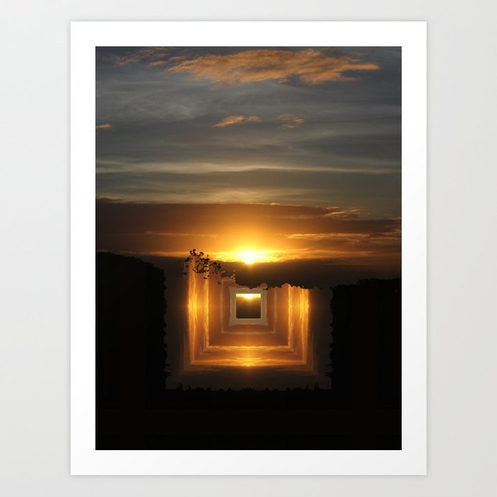 Catch a little sunrise and save it for a rainy day Art Print