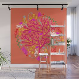 Folk Tree Wall Mural