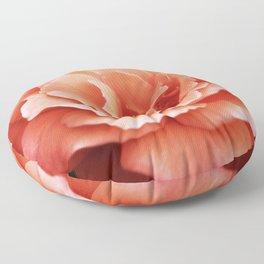 Apricot Blush Rose Floor Pillow