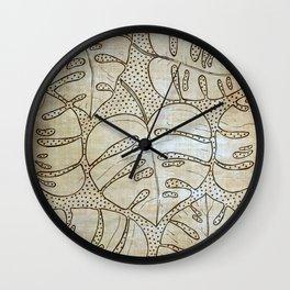 Poá Monstera Wall Clock