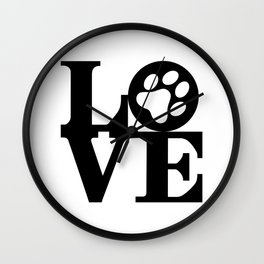 Love Pets Wall Clock