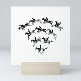 Connected to Showjumping (Black) Mini Art Print