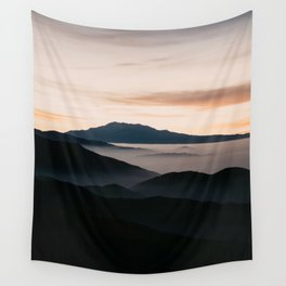 CLOUDY MOUNTAINS Wall Tapestry