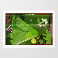 pool Art Prints featuring Pool by Robin Curtiss