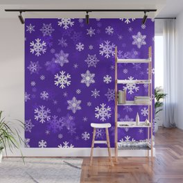 Light Purple Snowflakes Wall Mural