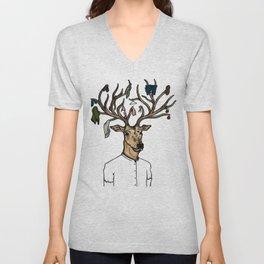Evicted deer Unisex V-Neck