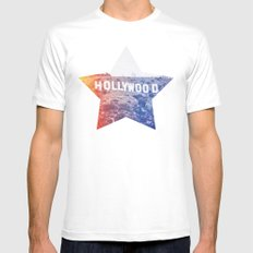 Hollywood Mens Fitted Tee White MEDIUM