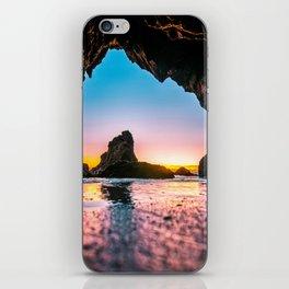 Ocean Cave At Sunset iPhone Skin