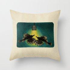 Sea Moths Throw Pillow