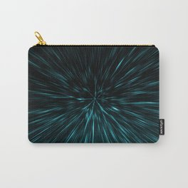 Blue and black Hypergalaxy Carry-All Pouch