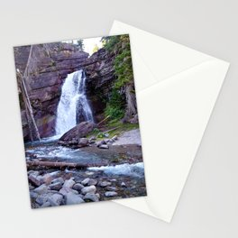 Baring Falls, Montana, Glacier National Park Waterfall Stationery Cards