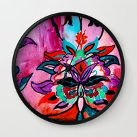 ruby Wall Clocks featuring Ruby by Sonal Nathwani