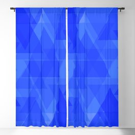 Gentle dark blue triangles in the intersection and overlay. Blackout Curtain