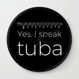 Tuba oompas (black) Wall Clock