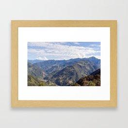 Bhutan eastern mountains Framed Art Print
