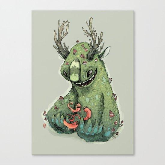mushroom creature Canvas Print