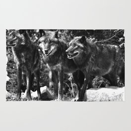 Three Wolves Rug