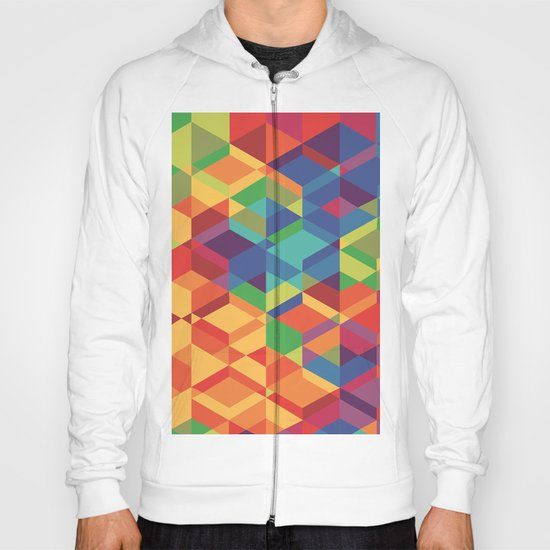 Geometric colour Hoody