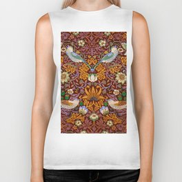 "William Morris ""Strawberry Thief"" 3. Biker Tank"