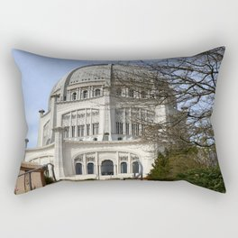 Bahai House of Worship   Wilmette Illinois Rectangular Pillow