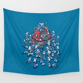 Blue Horde Wall Tapestry