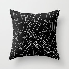London Road Blocks Black Throw Pillow