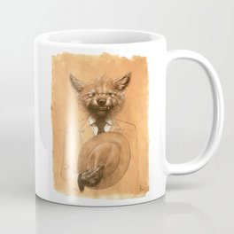 Young Wolf in a Suit Coffee Mug